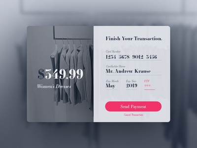 Credit Card Checkout // Daily UI 002