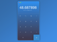 Calculator // Daily UI 004