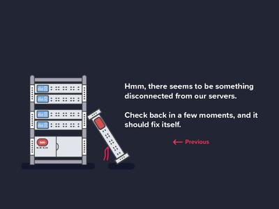 Server Error Page proxima soft server web design uiux minimal dark clean simple flat design 500 error