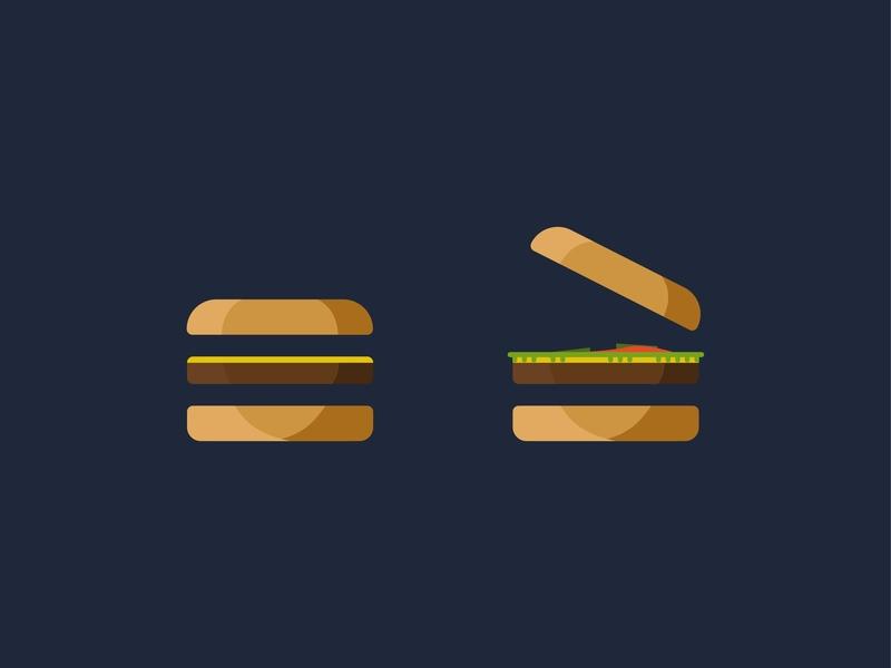 Here's a burger for your menu funny clean website navigation simple illustration burger ui  ux btn