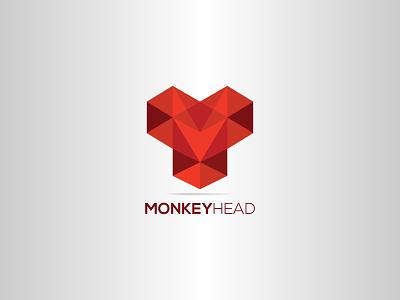 Monkey Head polygon logo illustration logodesign logo design logo