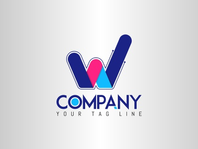 W company logotype logodesign w logo desing logo