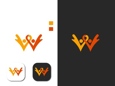 W logo happy joyful w design logos logodesign logo