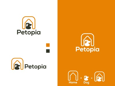 Pet House Logo logotype logos logo design pet house dog pet logo