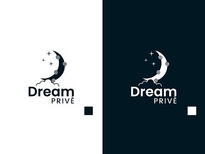 Dream Prive Logo stars moon dreams design logo design logos logodesign logo