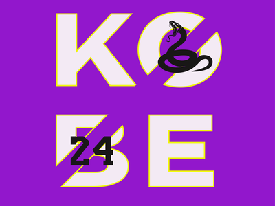 Kobe Bryant mamba basketball 24 nba kobe bryant logo illustrator illustration icon design animation adobe