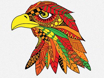 Eagle poster creative animal color vector illustrator illustration design adobe