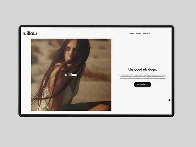 willow | Web Design modern web design html ui design minimal flat