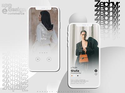 Zephyr | App Design modern fashion ecommerce web ui design minimal flat