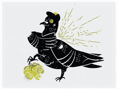 Pitgeon pigeon llustration vector texture bird pittsburgh popcorn
