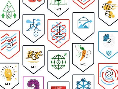 Suitable App Badges achievements apps illustrations badges