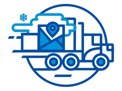 Polar 3PL Website Carrier Illustration  blue pittsburgh monoline design web design illustration iconography icon