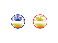 Round 1 option. Ramen Road Energy Symbol. Ramen shop logo.