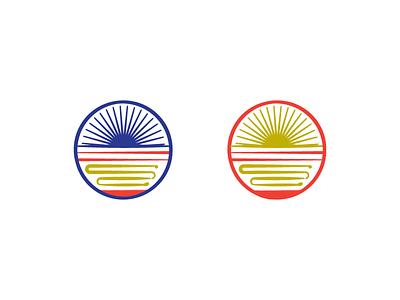 Round 1 option. Ramen Road Energy Symbol. Ramen shop logo. horizon chi logo restaurant noodles japanese road energy ramen pittsburgh branding vector
