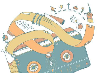 Erase & Rewind illustration vhs imaginative hand drawn