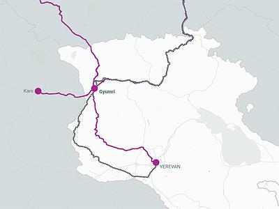 Drawing map of routes thru Gyumri gyumri map adobe illustrator