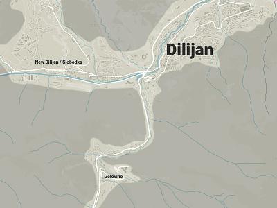 Starting Dilijan Map Projects adobe illustrator dilijan