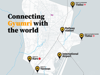 Map: Connecting Gyumri with the world
