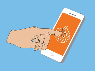 Floating Hand Touch Screen touch screen iphone vector peoplematter
