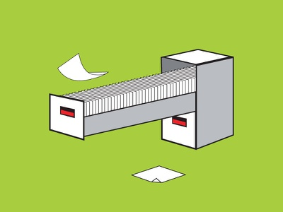 99 Problems peoplematter filing cabinet paperless vector