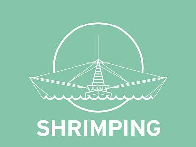 Shrimping shrimp boat icon