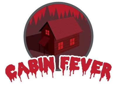 Cabin Fever   Three River Brewing cabin fever three river brewing horror typography red dripping icon logo