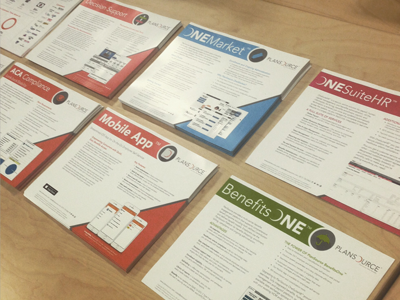 PlanSource Marketing Material plansource product slicks marketing layout icons screenshots