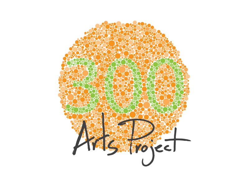 300 Arts Project Logo color blind test pointillism art gallery 300 arts project logo