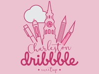 Charleston Dribbble Meetup Logo