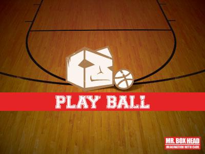 Mr. Boxhead Play Ball grunge impact dribbble mr. boxhead