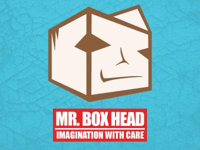 Mr Boxhead Logo texture impact box mr boxhead