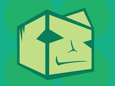 Mr Box Heads St Patty's Day luck box logo monochromatic mr box head st patricks day green