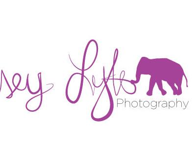 Lyndseylytlephotography Logo typography elephant logo photography lyndsey lytle
