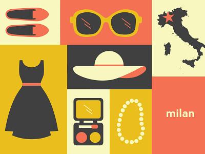 Milan milan sunglasses loafer makeup hat