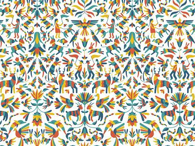 Otomi pattern otomi animals folk art mexico