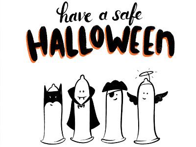 Hallowien birth control planned parenthood vampire batman costume halloween condom