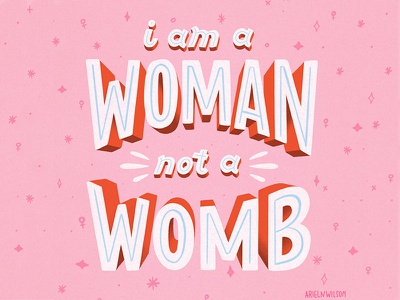 Dribble feminism illustration typography