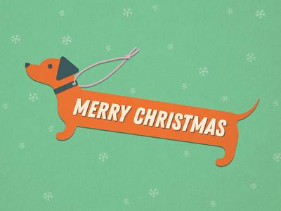 dachshund through the snow holiday dachshund christmas tag