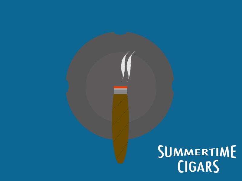 Summertime Cigars summer cigars sticker mule