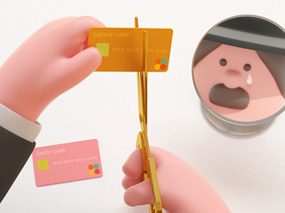 buy, bye card 3d graphic arttoy illustration art