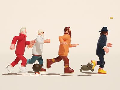 Run run 3d graphic arttoy illustration art