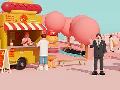 Picnic picnic 3d graphic arttoy illustration art