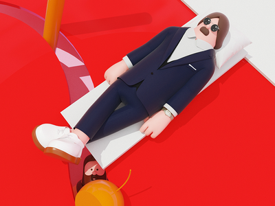 Q: Where do you get your inspiration? A: Still Breakbot breakbot 3d graphic arttoy illustration art