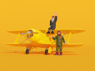 We are going to plane 3d graphic arttoy illustration art