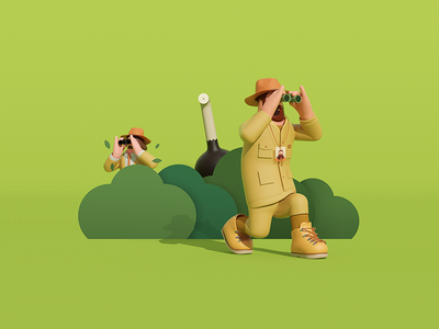 Catch me if you can 3d graphic arttoy illustration art