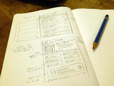 App Sketches ui app design wip