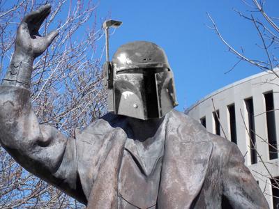 Statue Wars photo manipulation photoshop star wars boba fett