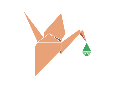 Birth Center logo vector branding birth origami