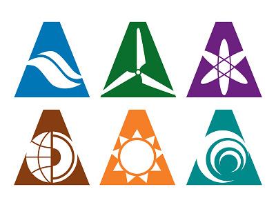Energy Logos branding divisions classwork