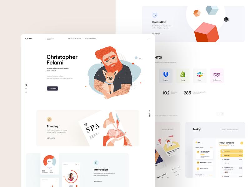 Cris | Freelancer Portfolio app ui website branding ui creative personal logo illustration portfolio freelancer